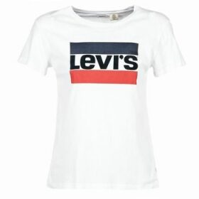 Levis  THE PERFECT TEE  women's T shirt in White