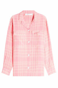 Victoria Beckham Patch Pocket Checked Shirt