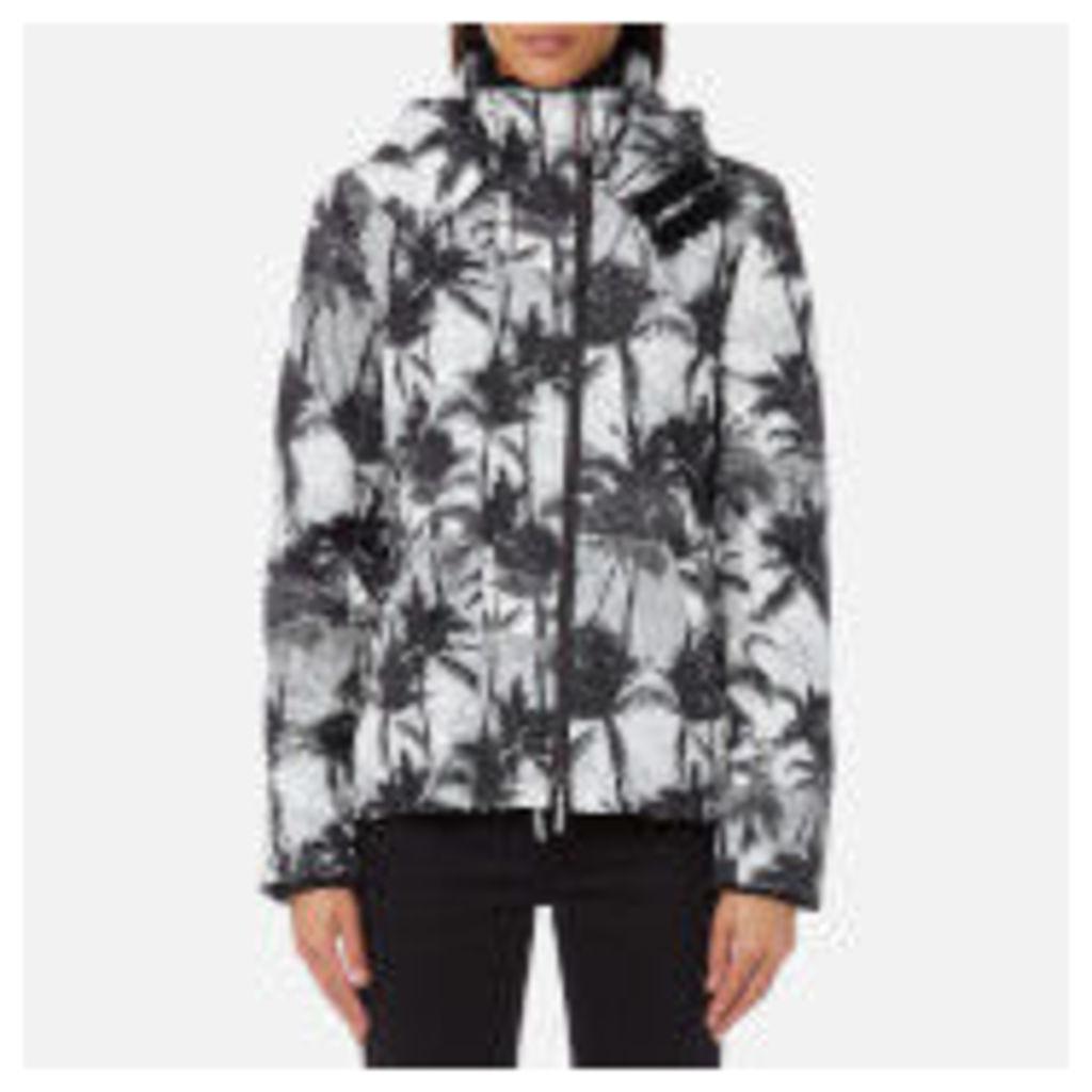 Superdry Women's Black Edition Windcheater Jacket - Mono Palm/Black/Neon Pink - M - Black