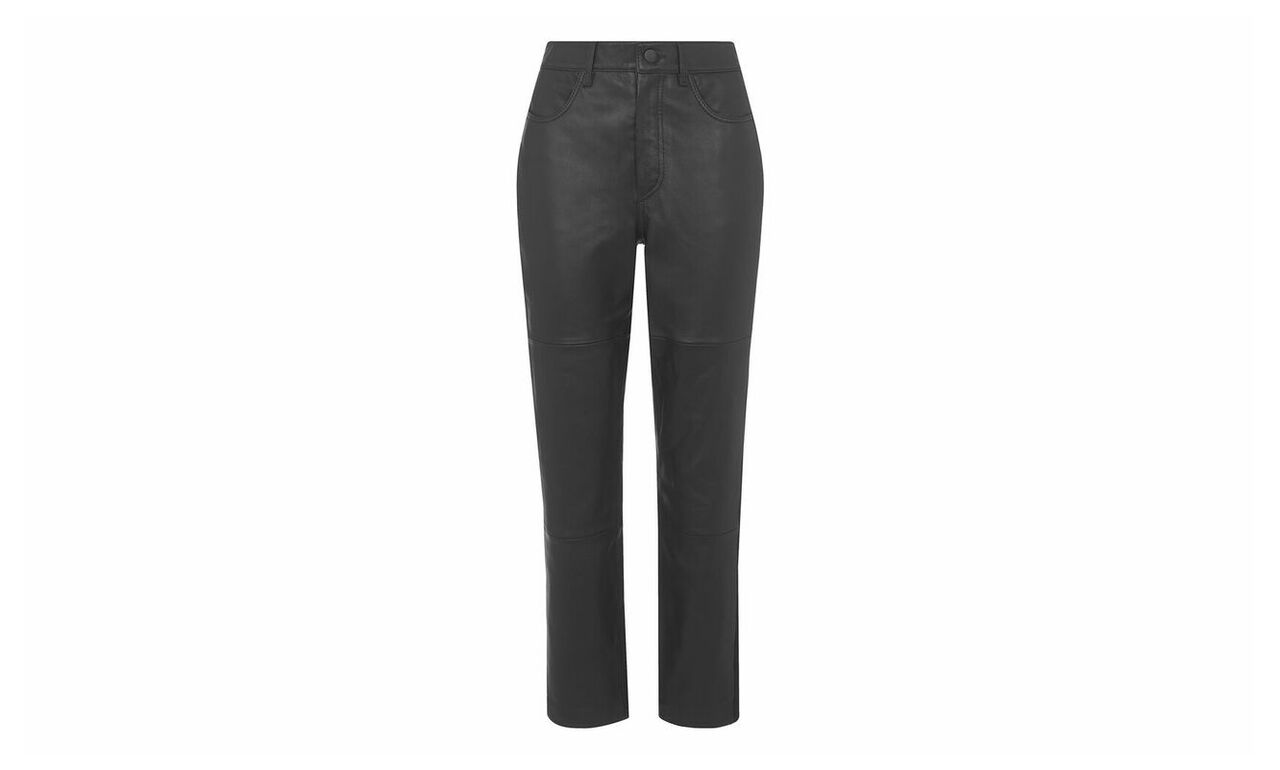 Ponte Panel Leather Trouser