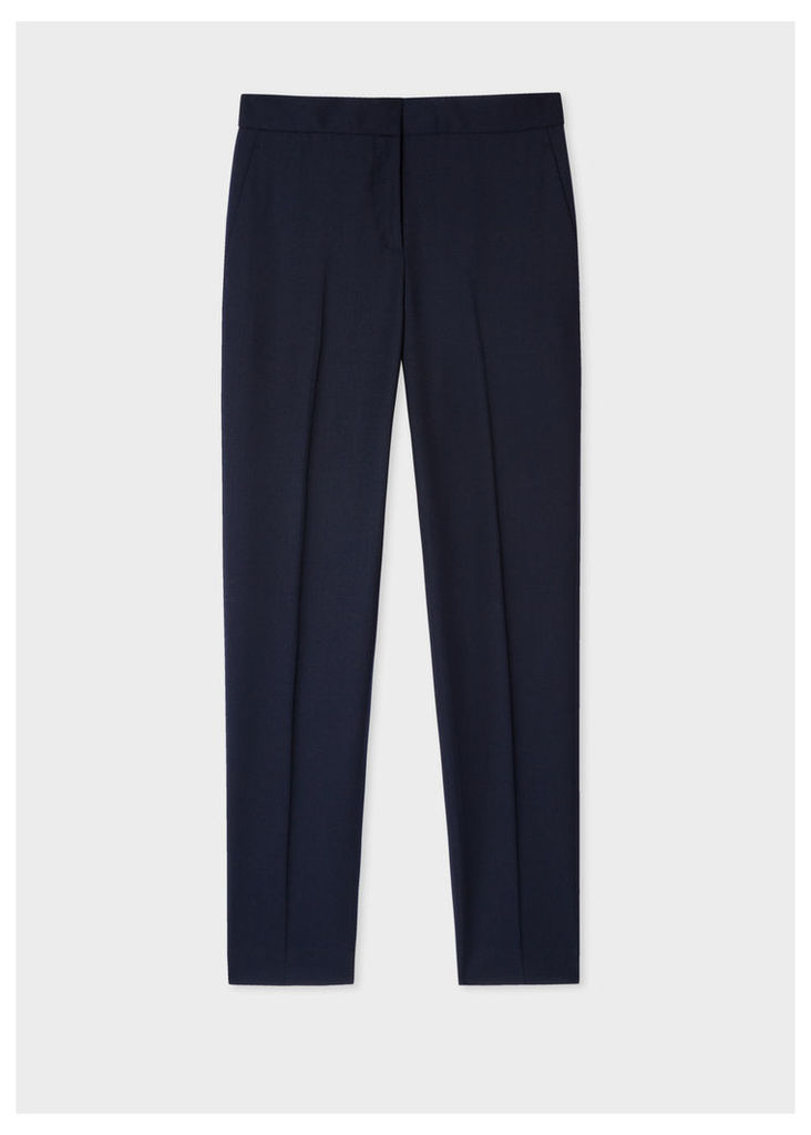 A Suit To Travel In - Women's Classic-Fit Dark Navy Wool Trousers