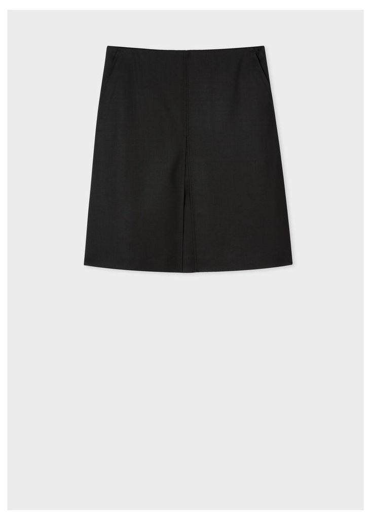 Women's Black A-Line Cotton Skirt