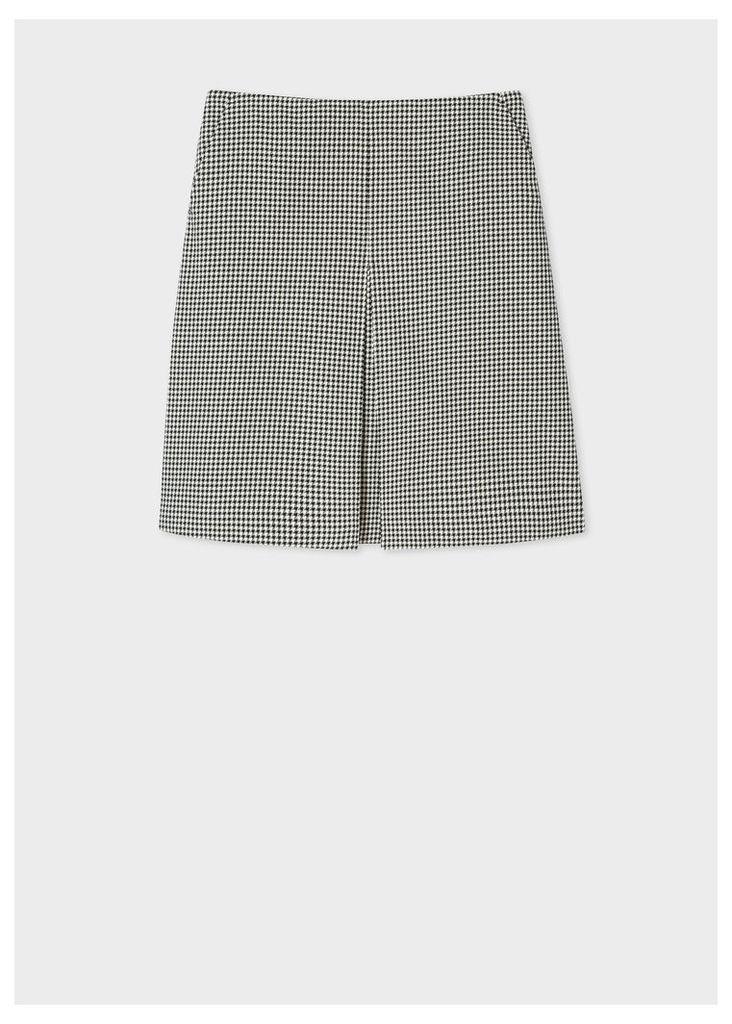 Women's 'Dogtooth' Cotton Skirt