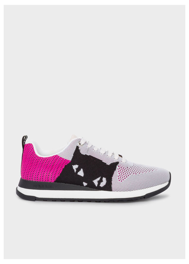 Women's Mauve And Pink 'Cat' 'Rappid' Knitted Trainers