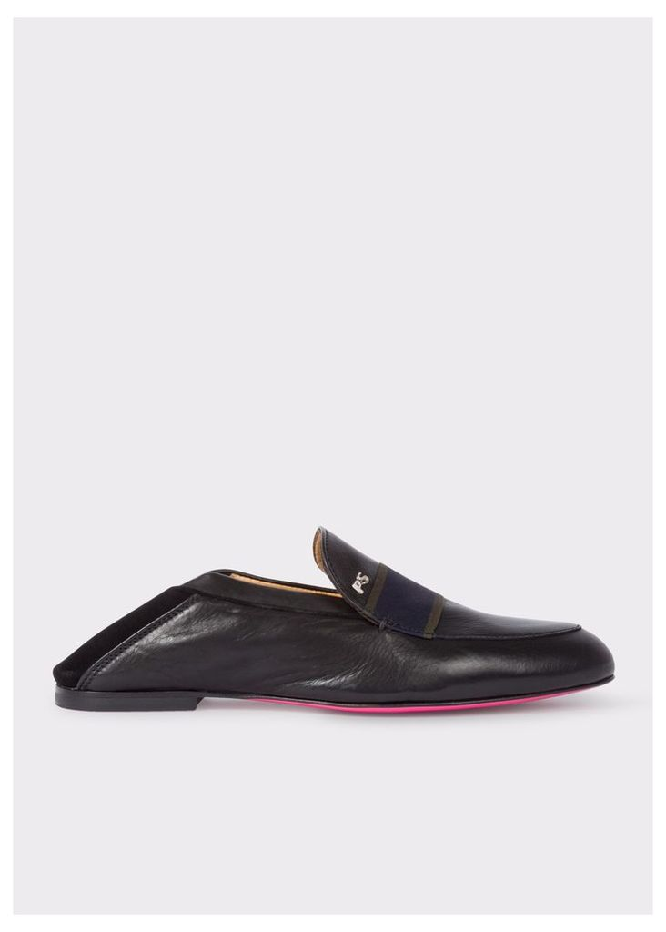 Women's Black Leather 'Freda' Penny Loafers