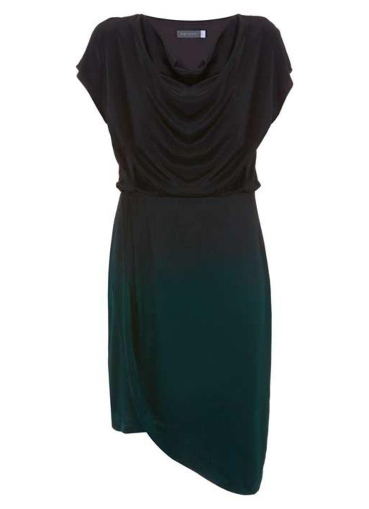 Cowl Neck Ombre Dress