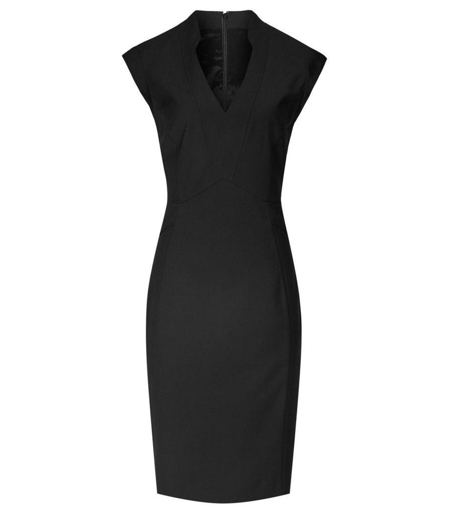 Reiss Elia Dress - Tailored Dress in Black, Womens, Size 4