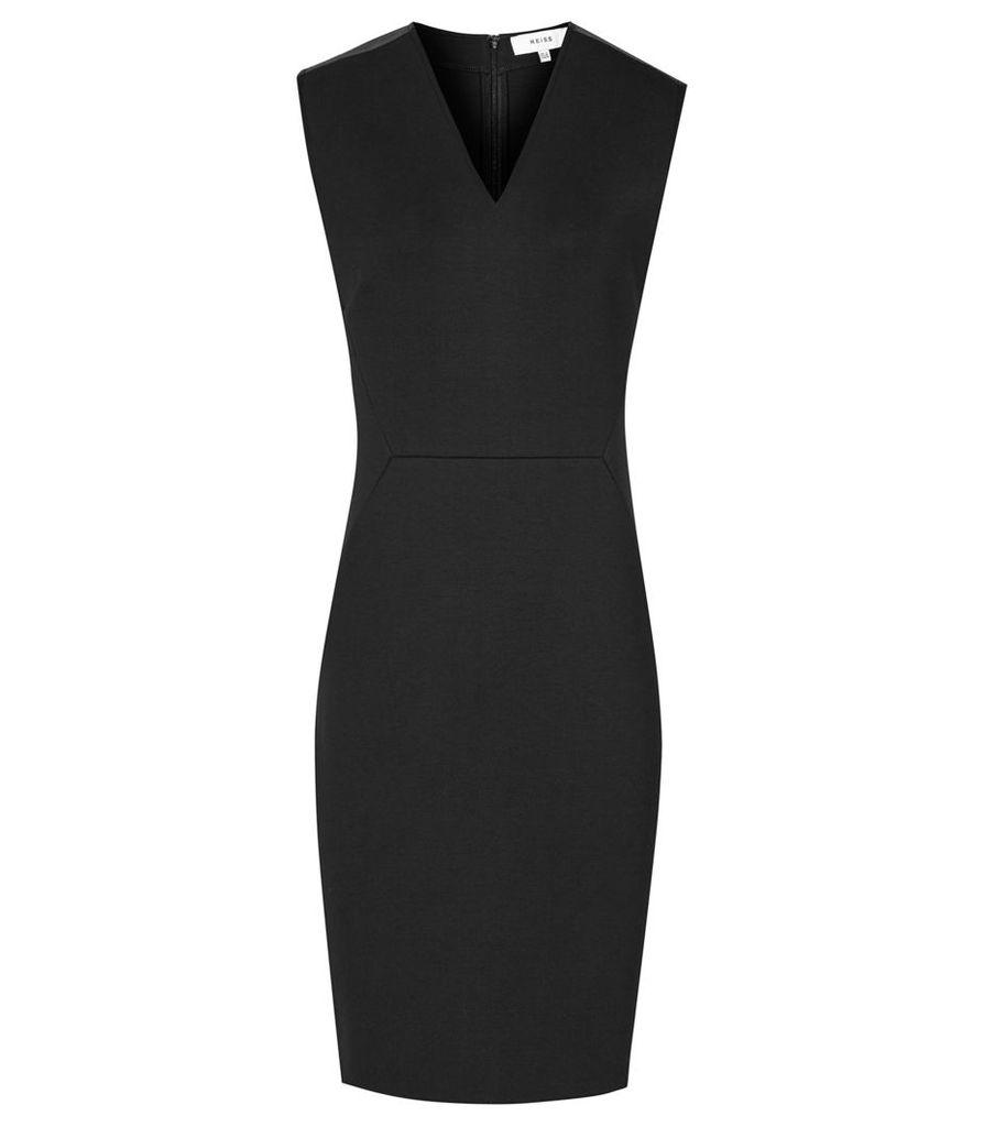 Reiss Tilly - Neoprene Dress in Black, Womens, Size 4