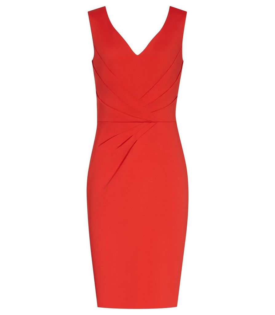 Reiss Alessandra - Tailored Dress in Clementine, Womens, Size 4