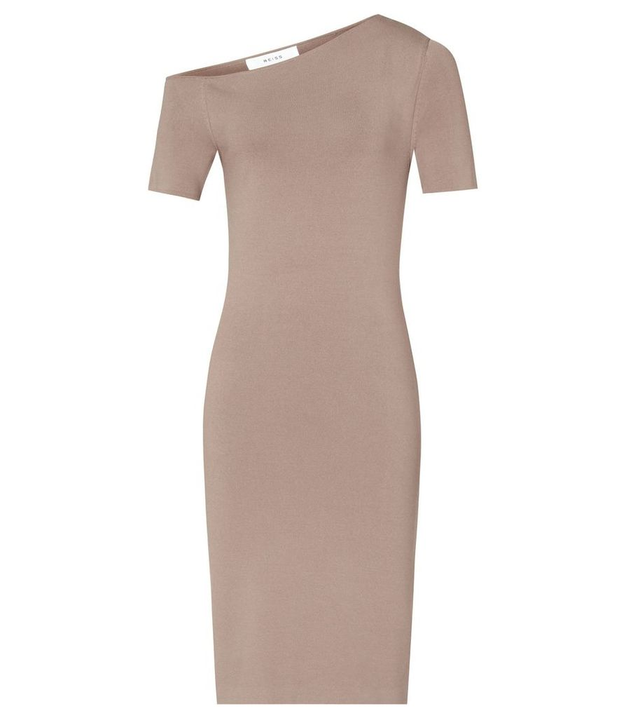 Reiss Palmer - Off The Shoulder Dress in Mink, Womens, Size 4