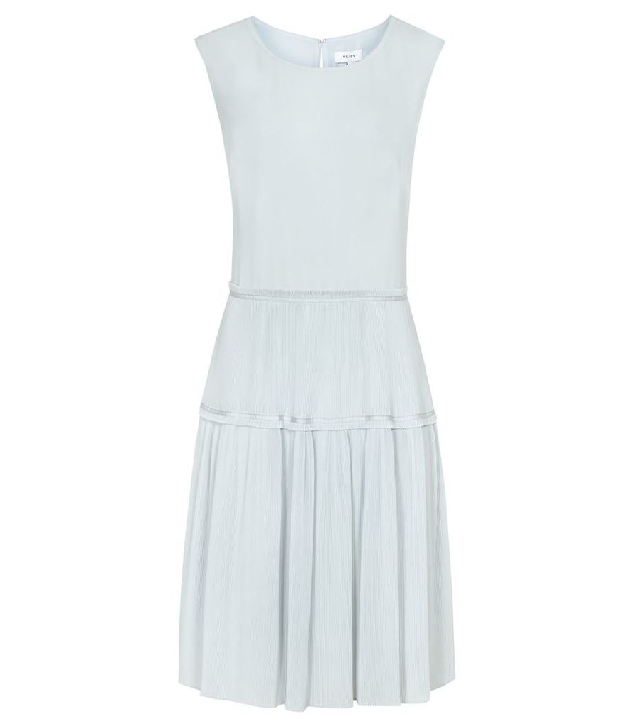 Reiss Justyna - Plisse Skirt Dress in Arctic, Womens, Size 4