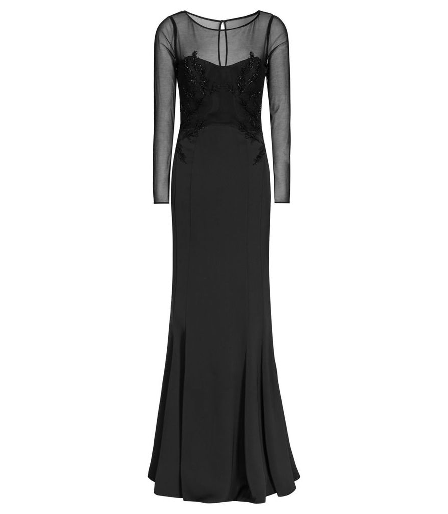 Reiss Lys - Embellished Maxi Dress in Black, Womens, Size 4