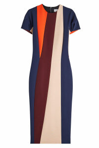 Victoria Beckham Pleat Sleeve Pencil Dress