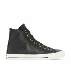 CTAS Leather + Fur Hi High-Top Trainers