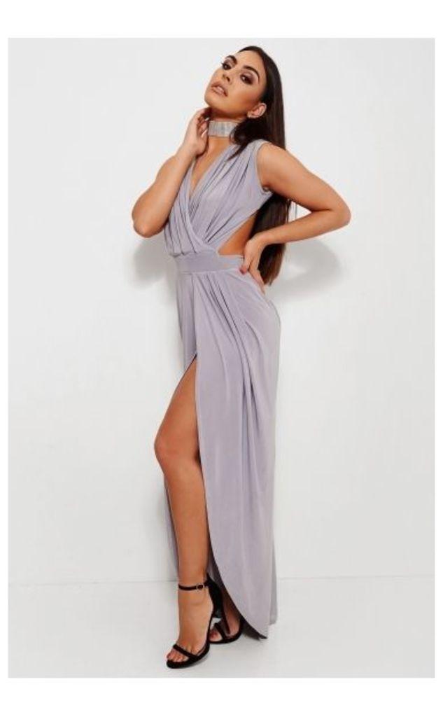 Grey Slinky Maxi Dress