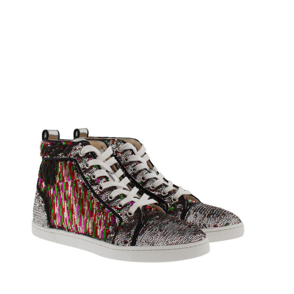 Christian Louboutin Sneakers - Bip Bip Orlato Paillette Sneakers Silver/Multicolor - in colorful - Sneakers for ladies