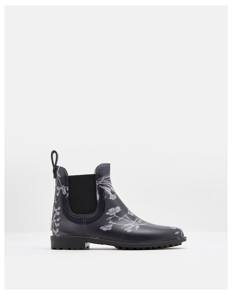 Black Botanical Rockingham Chelsea Boots  Size Adult 8 | Joules UK
