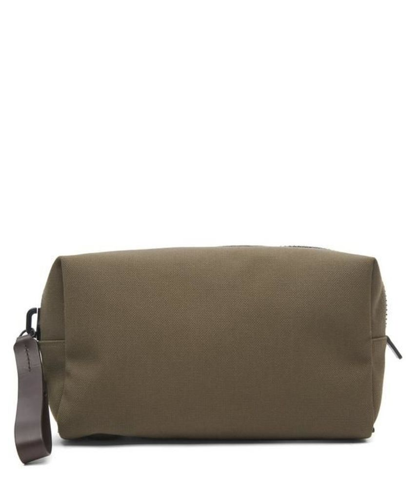 Fabric and Leather Wash Bag