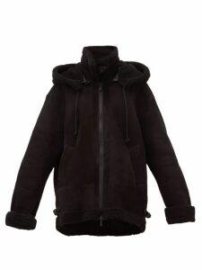 Raey - Aviator Shearling Jacket - Womens - Black