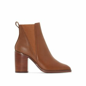 Lack Leather Ankle Boots