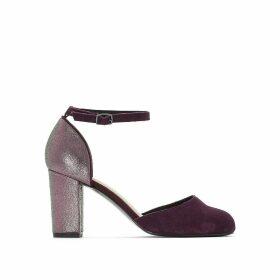 Iridescent Leather Heels