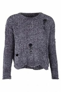 Distressed Chunky Knit Jumper