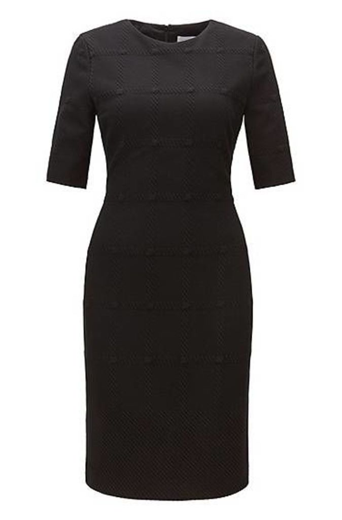 Check-structure dress in soft jersey