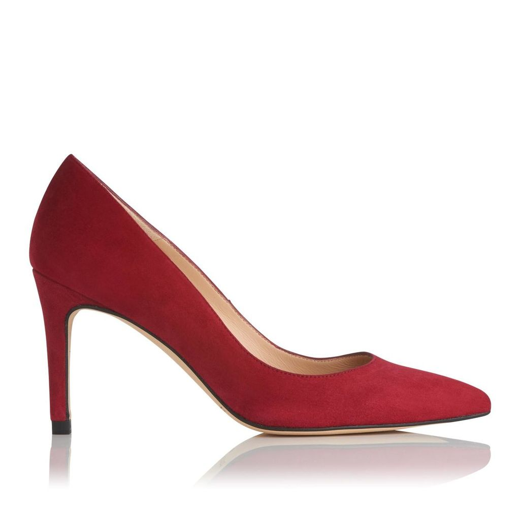 Floret Red Suede Closed Courts