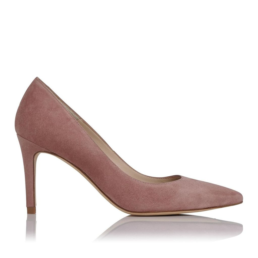 Floret Pink Suede Wide Fit Courts