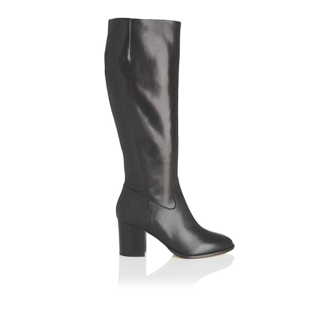 Phoenix Black Leather Knee Boots