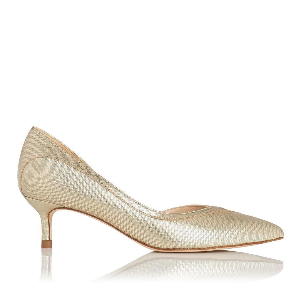 Layla Gold Leather Open Courts