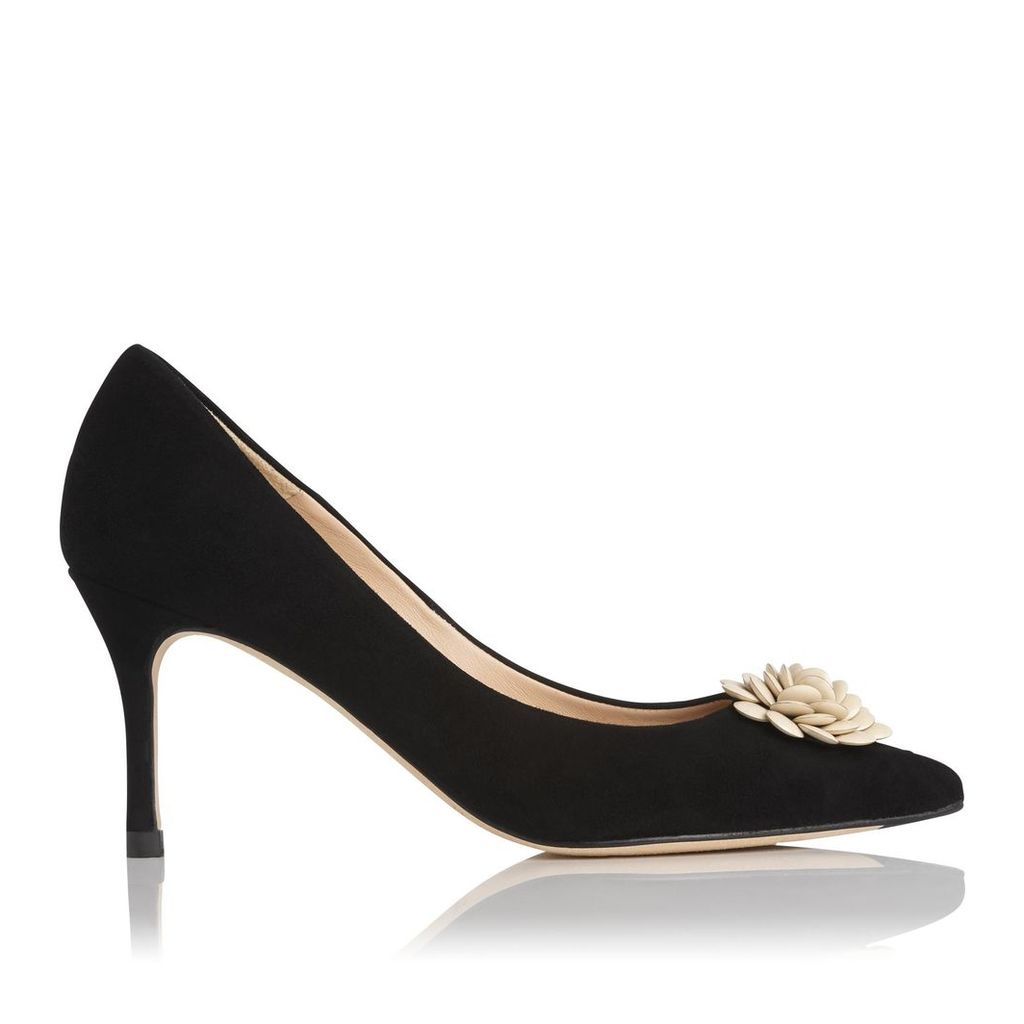 Gisele Black Suede Closed Courts