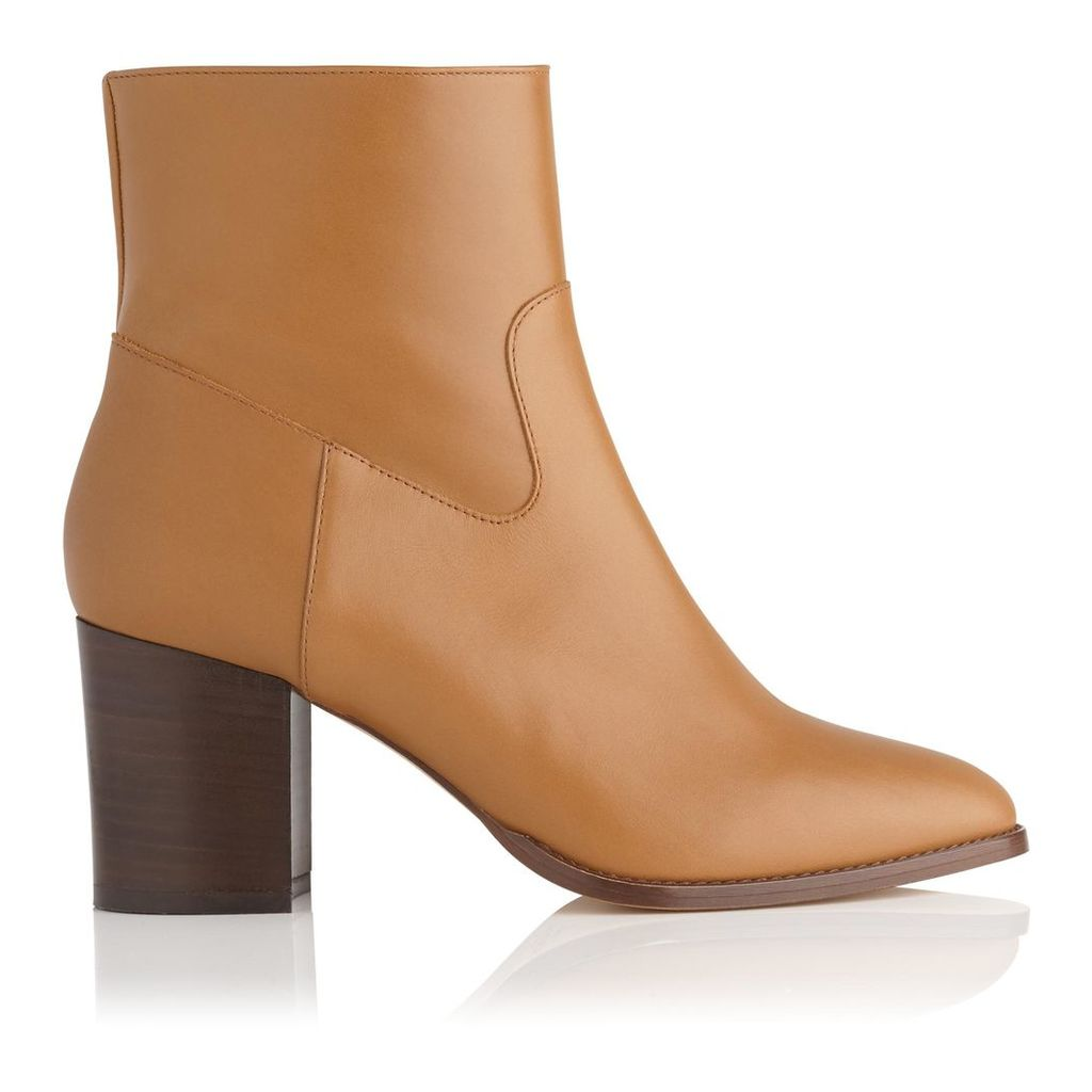 Jourdani Brown Leather Ankle Boots
