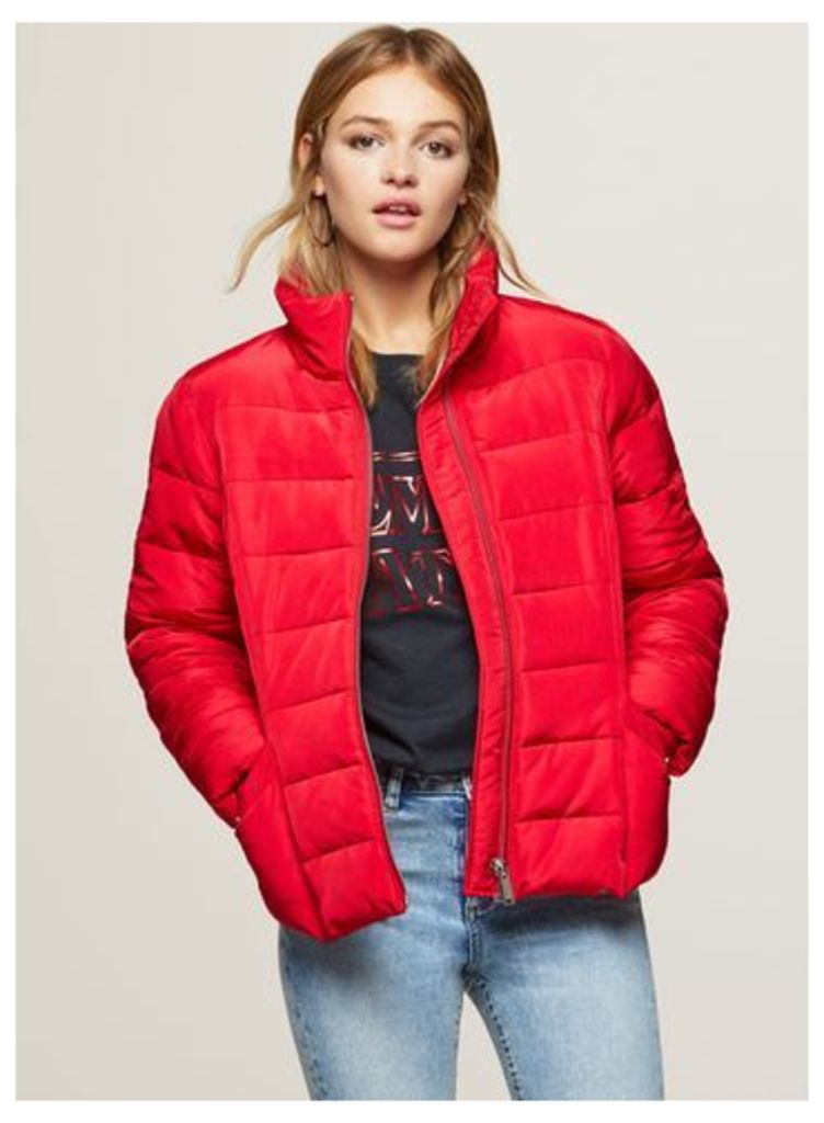 Womens Red Puffer Jacket, Red