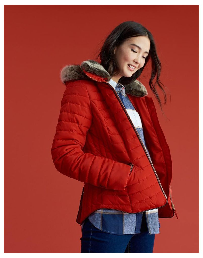 Red Gosling Padded Jacket  Size 14 | Joules UK