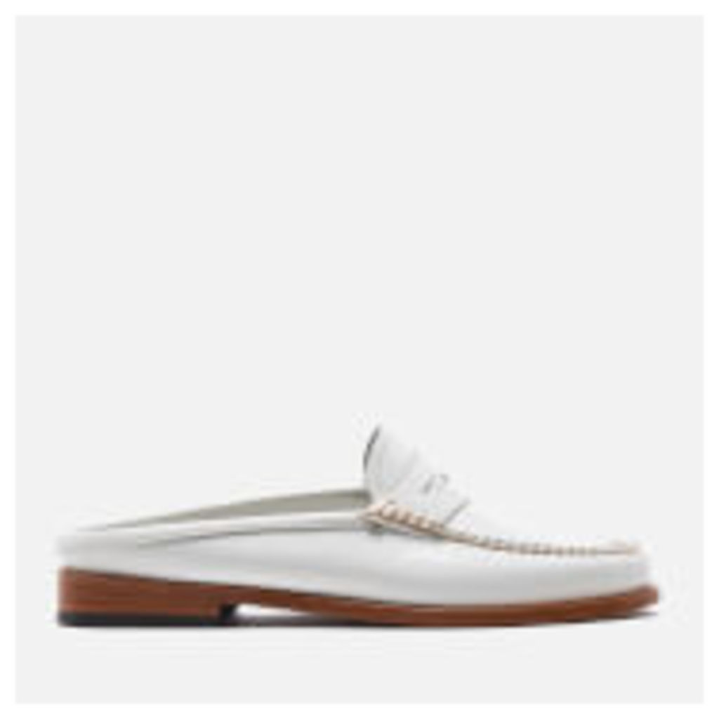Bass Weejuns Women's Penny Slide Leather Loafers - White - UK 3 - White