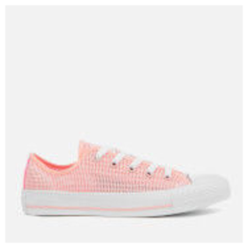 Converse Women's Chuck Taylor All Star OX Trainers - Vapor Pink/Pink Glow/White - UK 3 - Pink