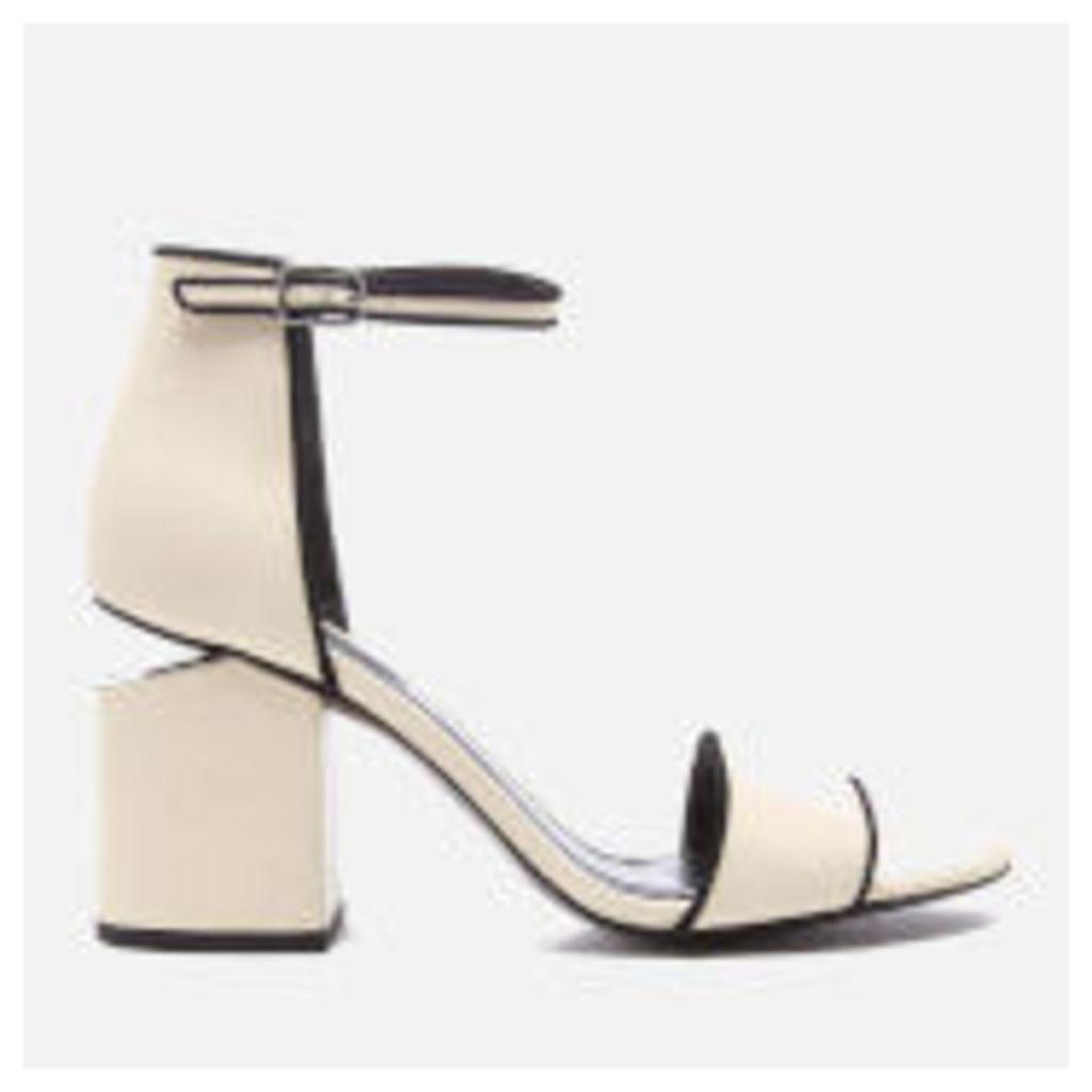 Alexander Wang Women's Abby Block Heeled Two Part Sandals - Bone - EU 37/UK 4 - White