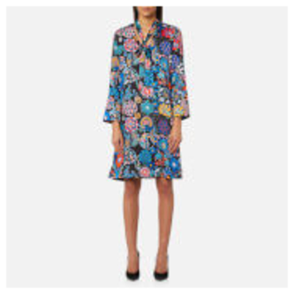 PS by Paul Smith Women's Enso Floral Tunic Dress - Black - IT 38/UK 6 - Black