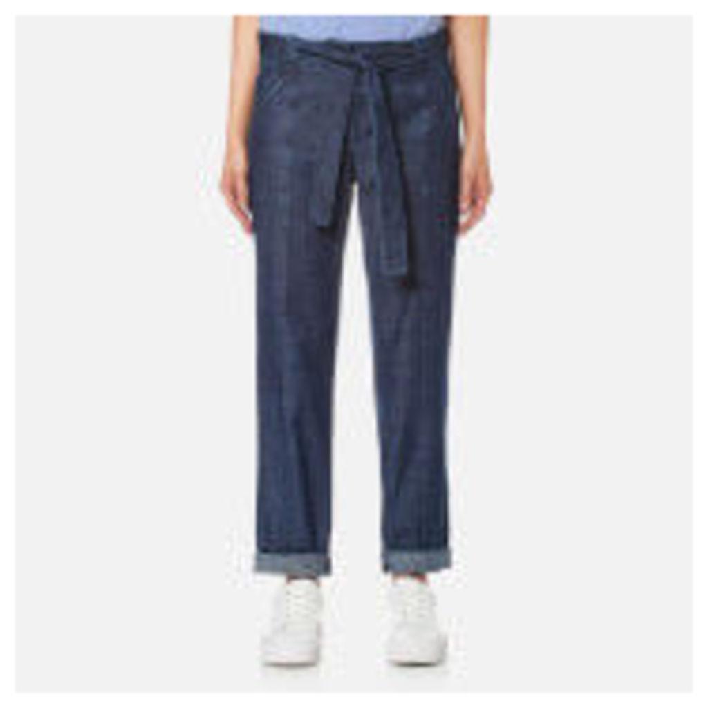 A.P.C. Women's Burki Trousers - Indigo - UK 10/EU 38 - Blue