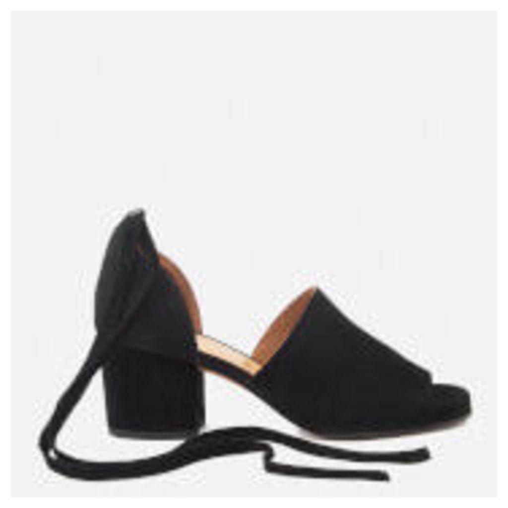 Hudson London Women's Metta Suede Heeled Sandals - Black - UK 3 - Black