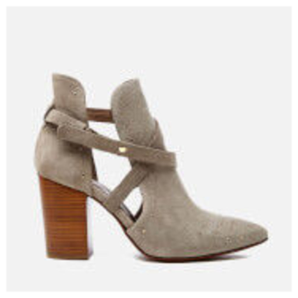 Hudson London Women's Jura Suede Studded Heeled Ankle Boots - Taupe - UK 7 - Grey