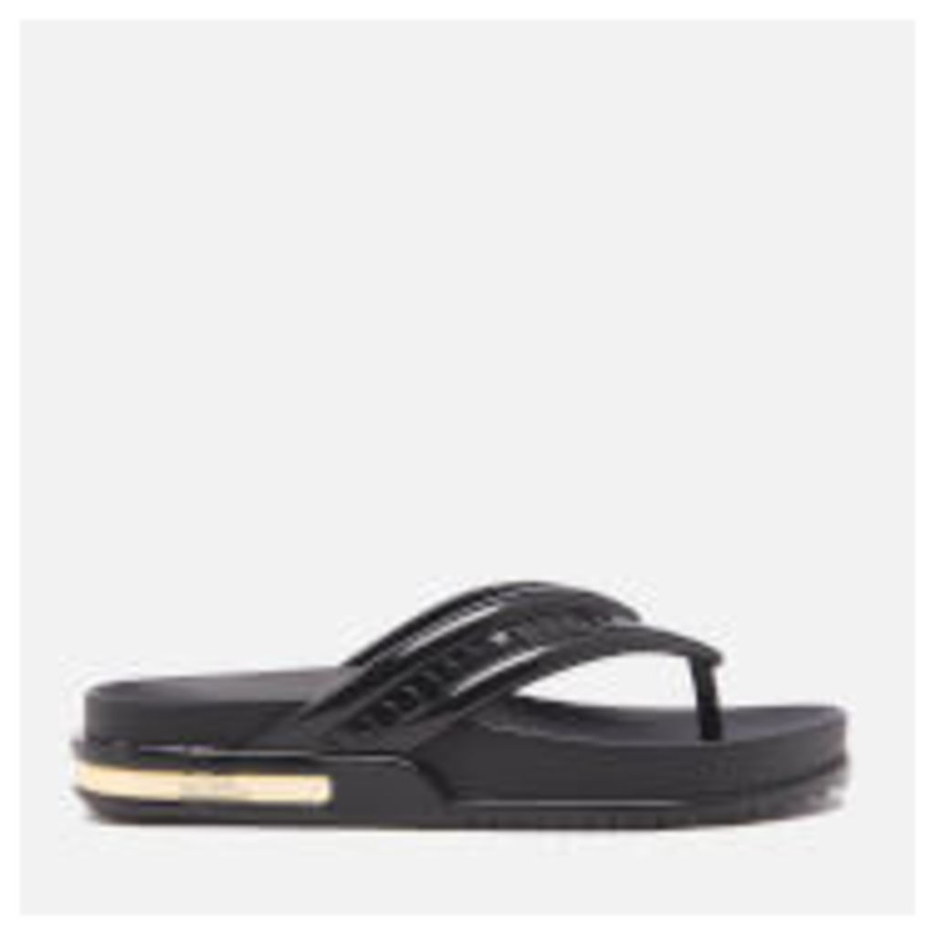 Vitorino Campos for Melissa Women's Iris Toe Post Sandals - Black/Gold - UK 3 - Black