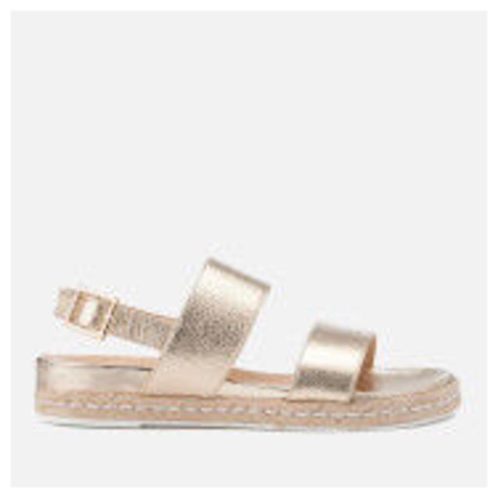 Dune Women's Lacrosse Leather Sling Back Espadrille Sandals - Gold - UK 8 - Gold