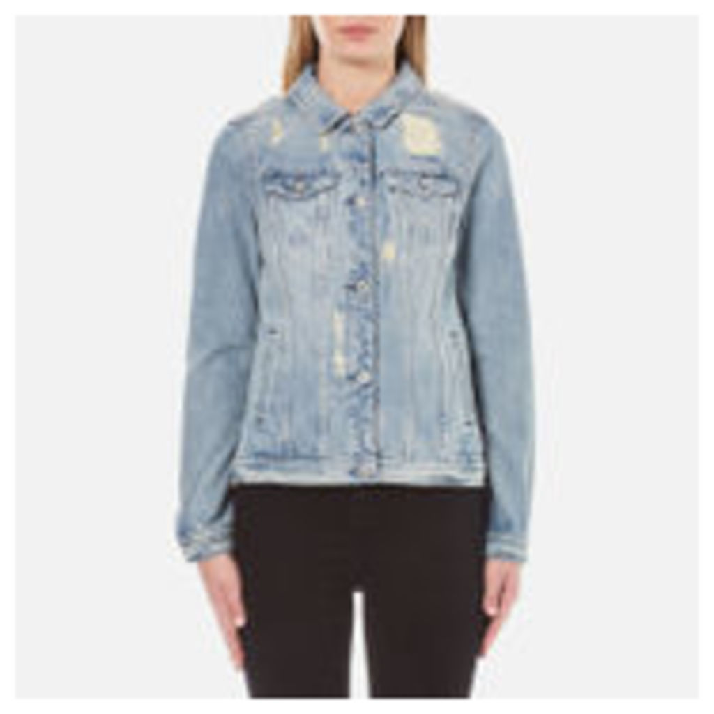 Maison Scotch Women's Denim Trucker Jacket - Indigo - UK 10/2 - Blue