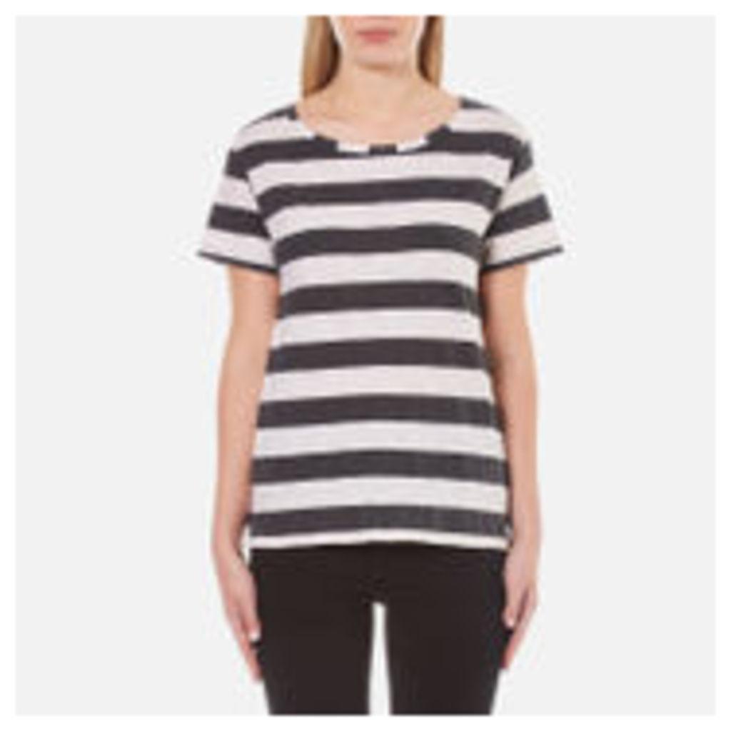 Maison Scotch Women's Loose Fit T-Shirt in Stripes - Multi - UK 10/2 - Multi