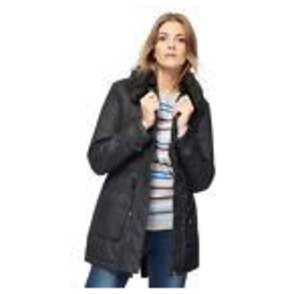 Maine New England Womens Black Faux Fur Collar Coat From Debenhams