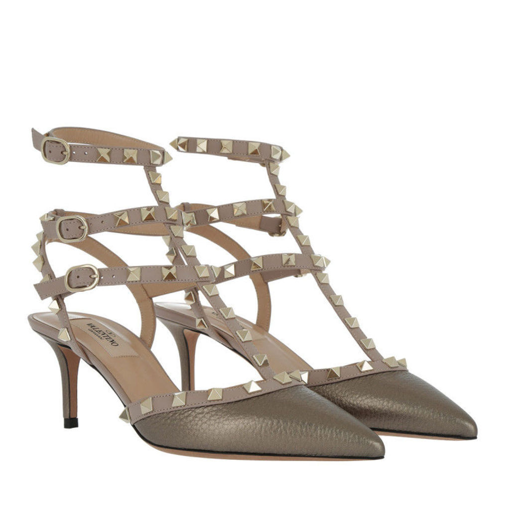 Valentino Pumps - Rockstud Ankle Strap Pump Sasso - in silver - Pumps for ladies