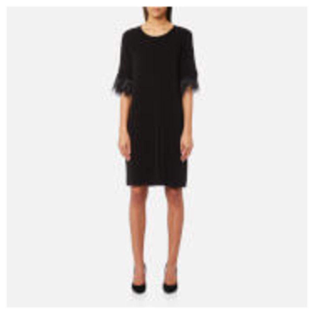 MICHAEL MICHAEL KORS Women's Feather Cuff Dress - Black