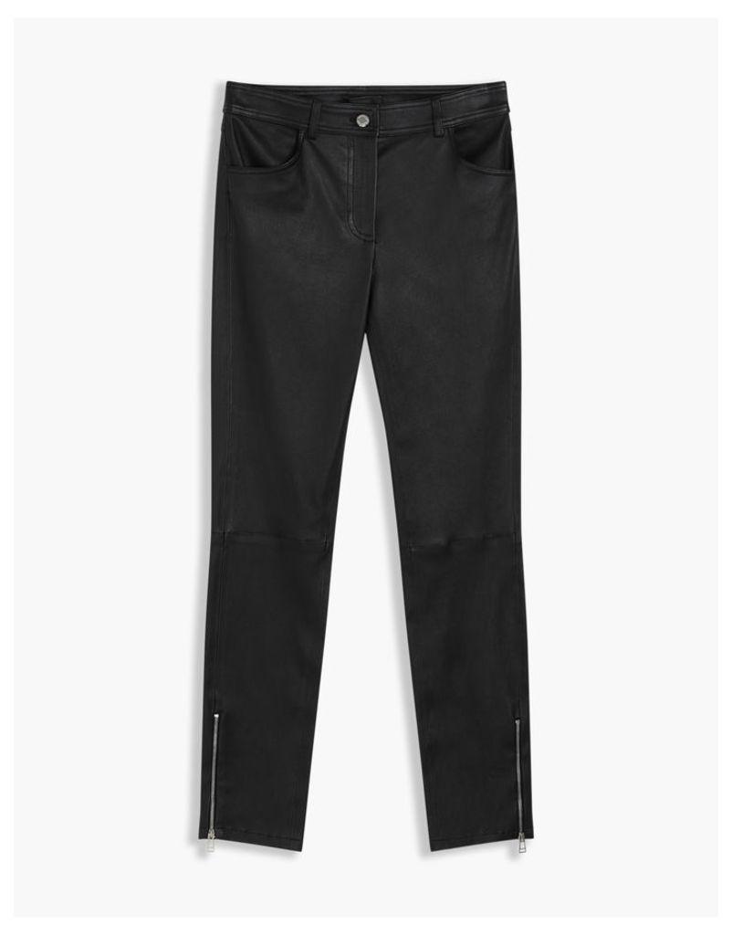 Belstaff Etty Leather Trousers Black